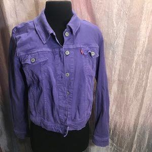 Levi's purple vintage denim jacket NWT